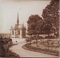 Château d'Amboise Photo R4 Stereo Verre Positive Vintage 1907