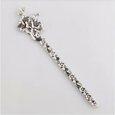 2 Plum Blossom Tibetan Silver Flower Bookmark Jewelry Making Findings 133mm