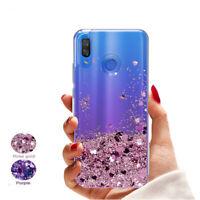 For Samsung Galaxy A70 A50 A30 M20 Glitter Liquid Quicksand Soft TPU Case Cover