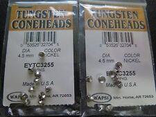 Wapsi Tungsten Coneheads - 4.5 mm Nickel - 2 packs of 10