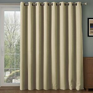 "Thermal Curtains Beige 100""W x 84""L Light Blocking Sound Dampening Energy Saver"