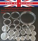 Round Coin Capsules Clear Plastic Coin Capsule Case Holder 20p 50p £1 pound £2