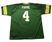 VTG 90s Logo Athletic Brett Favre #4 Green Bay Packers NFL Jersey Sz XXL 2XL USA