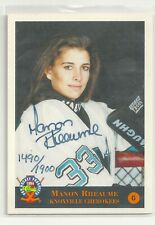 Manon Rheaume autographed classic pro hockey prospects 1994. 1490/1900