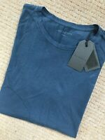 "ALL SAINTS MEN'S UNIFORM BLUE ""OCTAM"" S/S CREW T-SHIRT TOP - XS - NEW & TAGS"