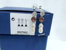 5027502 R&J Pearls Pierced Earrings Romeo & Juliet movie crystal Swarovski