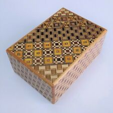 4 DOM 7 pasos yosegi/KUZUSHI japonés Caja Puzzle himitsubako nuevo Oka Craft