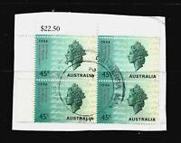 4X AUSTRALIA, VARIOUS STAMPS ON PAPER, WITH INTERESTING PMARK, FU