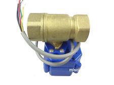 "motorized valve brass, G3/4"" DN20, 2 way, CR05, electrical valve, motorized ball"