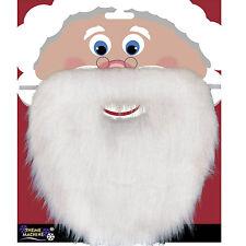 New Christmas Santa White Fake Beard Unisex Fancy Dress Xmas Party Accessory