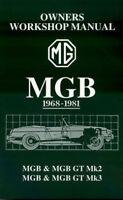 MGB SHOP MANUAL MG SERVICE REPAIR BOOK