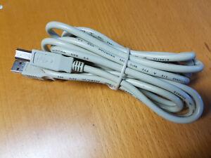 HighSpeed USB 2.0 Kabel 3m 3 Meter Typ A - B für Drucker PC Scanner - Grau - Neu