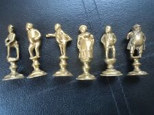 Vintage Brass Pipe Tamper - Dickens Character -  6 Tampers