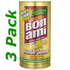 Bon Ami Cleaning Powder Polish and Cleanser All Types of Surfaces 14 oz x 3 Pack