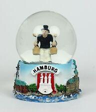 """Kleine Schneekugel Hamburg """"Hummel Hummel"""" Schüttelkugel Glitzerkugel Andenken"""