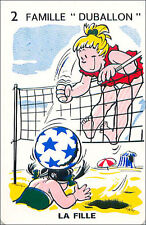 Volley-ball Volleyball SPORT PLAYING CARD CARTE À JOUER HUMOR HUMOUR 60s