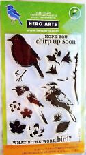 Color Layering Bird & Branch Clear Acrylic Stamp Set by Hero Arts CL866 NEW!