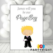 Personalised Will You Be Our Page Boy A6 Flat Postcard Style Card With Envelope