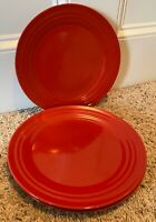 "Rachael Ray DOUBLE RIDGE RED 11"" Dinner Plates Set of 6"