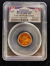2009 Lincoln Bicentennial One Cent Penny Coin PCGS SP67RD 95% Cu Uncirculated 1C