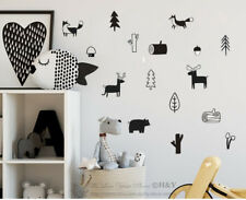 Forest Jungle Animal Trees Wall Sticker For Kids Art Decal Mural Nursery Decor