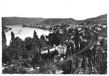 AK, Boppard am Rhein, Teilansicht mit Bahnlinie, 1957