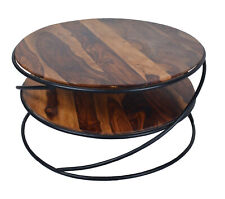 Indian Handmade Designer Beautiful Top Wooden With Iron Base Center Table