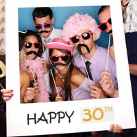 18/21/30/40/50/60th 21st Selfie Frame Photo Booth Props Happy Birthday Party