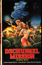 "VHS - FSK 18 - "" Dschungel MISSION ( Jungle Heat ) "" (1985) - Sam Jones"