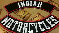 INDIAN MOTORCYCLES custom top & bottom rockers vest jacket back patch