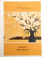 """ROUSSEAUX Claude affiche """"PRIMAVERA"""" Spirit of PONT-AVEN Femme Lys Bretagne art"""