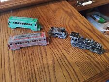 4 Vintage Metal Midgetoy Train Cars Made In Rockford Illinois