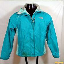 NORTH FACE Nylon Shell Ski Jacket Parka Womens Size XS Aquamarine Blue hooded