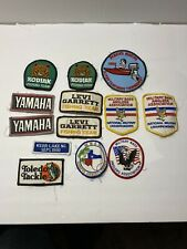 Lot Of 13 Vintage Fishing Patches Military Bass Anglers Association 1989