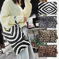 Leopard Print Portable Wristlet Clutch Women Ladies Wallet PU Leather Coin Purse