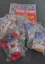 Beanie world magazine with article on McDonalds Teenie beanies + 6 bagged toys