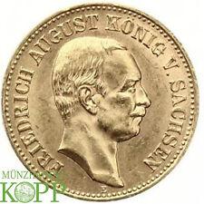 AA1121) J.268 SACHSEN 20 Mark 1905 E Friedrich August III 1904-1918 Gold