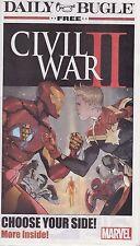 CIVIL WAR II DAILY BUGLE NEWSPAPER #1 JULY 2016 RETAILER PROMO CAPTAIN AMERICA