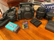 Canon EOS 5D Mark III 22.3MP Digital SLR Camera - Black w/ 2 lens! READ Details