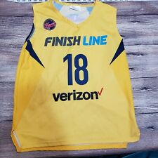 Indiana Fever Youth Size XL Basketball Jersey WNBA Yellow