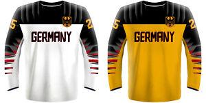 NEW 2021 Germany Deutschland Hockey Jersey DRAISAITL KAHUN RIEDER KUHNHACKL NHL