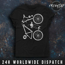 Cyclist T Shirt Bike Cycling Bicycle Parts Mountain MBT Road Racer BMX