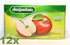 12 x Dogadan - Turkish Apple Tea (Elma Cayi) 40g [ Total 240 teabags/Full Case ]