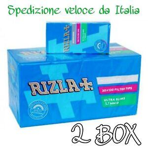 🔥 4800 Filtri Rizla Ultra slim 5,7mm 40 scatolini da 120 Filtrini ciascuno 2box