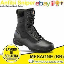 Anfibi Scarponcino Stivali Crispi Sniper Italian Boots Militari Esercito CC Neri