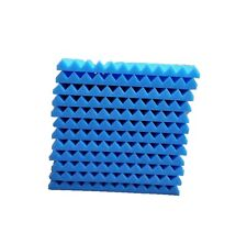 "12 pcs 12""x12""x1"" Acoustic Foam Blue Panel Tiles Wall Record Studio Sound Proof"