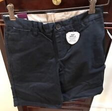 Gap Kids Shield Resistant Stain Mid-Rise Relaxed Fit Dark Blue Shorts Sz 10Reg.