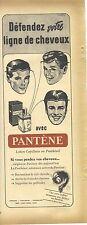 PUBLICITE ADVERTISING  1952  PANTENE orange la lotion capillaire