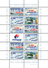 "VIGNETTES AERIENNES ""A380 Malaysia Airlines - 1er Vol Kuala Lumpur-Paris"" 2013"