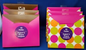 6 CD Holder Boxes Lot Hallmark for DVD Shipping Gift Wrapping  SALE